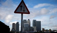 The Canary Wharf financial district is seen in east London November 12, 2014.