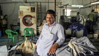 Bachal Lal Varma, owner of Aditya jeans washers.