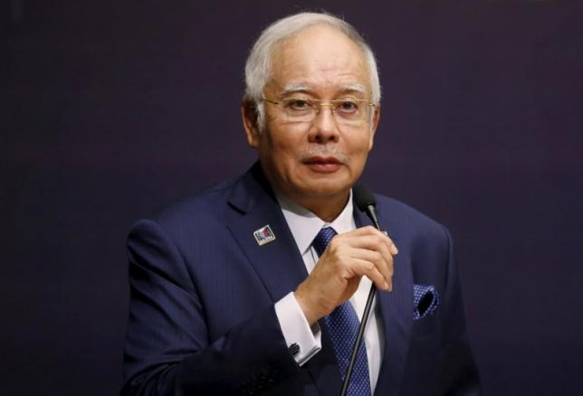 Malaysia's Prime Minister Najib Razak speaks at the opening of the International Conference on Deradicalisation and Countering Violent Extremism in Kuala Lumpur, Malaysia, January 25, 2016.