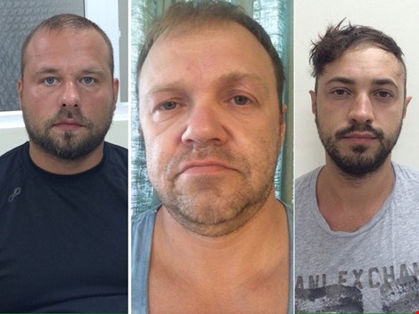 From left: Aleksei Troian, Viacheslav Kotets, Yury Bondarenko. Photo provided by the police