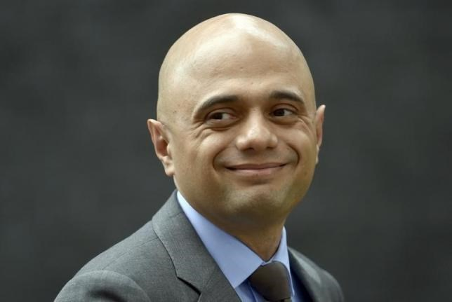 Britain's Business Secretary, Sajid Javid, leaves after a cabinet meeting in Downing Street in central London, Britain June 27, 2016.