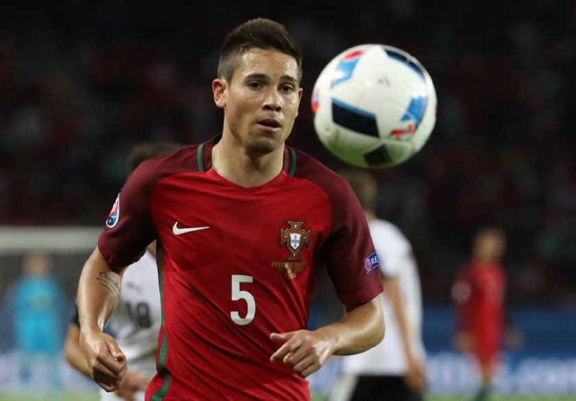 Portugal's defender Raphael Guerreiro is one of three members of the Portuguese squad who will be facing the country of his birth in Sunday's Euro 2016 final