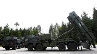The Medium Extended Air Defense System (MEADS) is pictured during a presentation at European Defense Group MBDA in Schrobenhausen, near Ingolstadt, Germany, June 25, 2015.