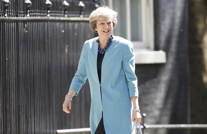 Britain's Prime Minister Theresa May arrives at 10 Downing Street, in central London July 14, 2016.