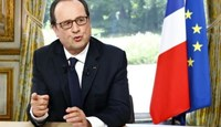 French President Francois Hollande gestures after a televised interview at the Elysee Palace where he said that France will not extend a state of emergency put in place after the November 2015 attacks beyond July 26, following the Bastille Day military parade in Paris, France, July 14, 2016.