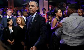 Obama responds to critics in conversation on race and police