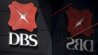 The logo of DBS is pictured outside an office in Singapore January 5, 2016.