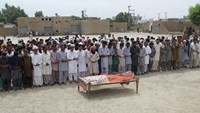 "People attend the funeral for Pakistani social media celebrity Qandeel Baloch after she was killed by her brother for ""intolerable"" behaviour"