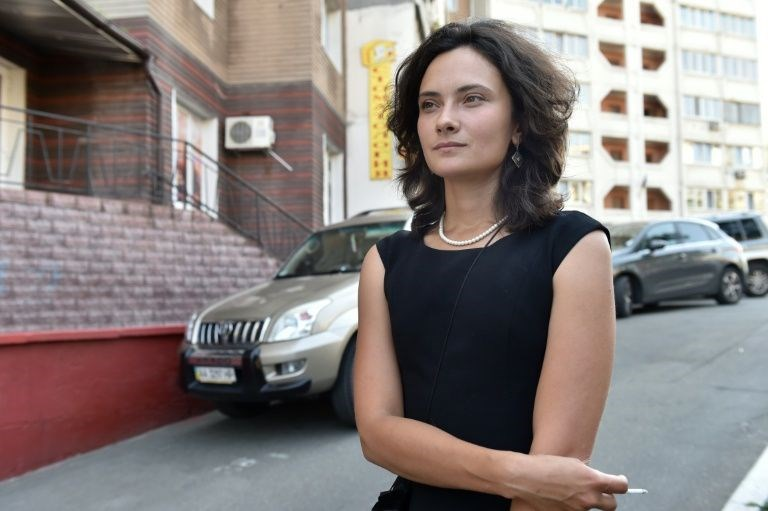 Anastasiya Melnychenko (pictured) has launched a campaign to shatter taboos in her homeland and neighbouring Russia