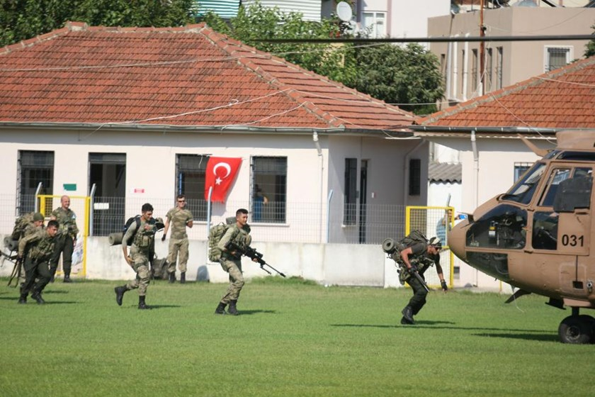 Turkish commandos take part in an operation to search for missing military personnel suspected of being involved in the coup attempt, in Marmaris, Turkey, July 22, 2016.