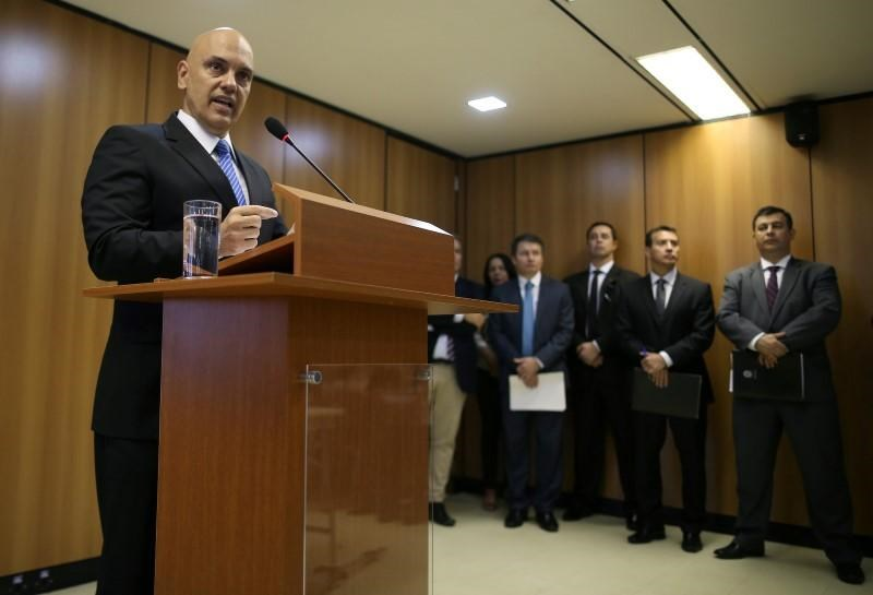 Brazil's Justice Minister Alexandre de Moraes attends a press conference on arrests made in at least two states before the start of the Rio 2016 Olympic Games, in Brasilia July 21, 2016.