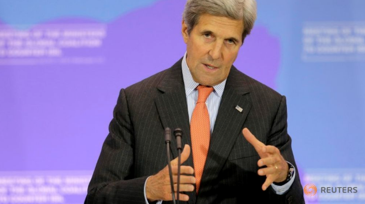 """U.S. Secretary of State John Kerry speaks at a press briefing after a """"Meeting of the Ministers of the Global Coalition to Counter ISIL: Joint Plenary Session"""" at the State Department in Washington, U.S., July 21, 2016. Photo: Reuters"""
