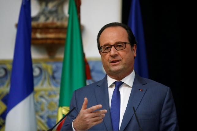 French President Francois Hollande attends a news conference at the Belem Palace in Lisbon, Portugal, July 19, 2016.