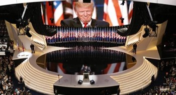 U.S. Republican Presidential Nominee Donald Trump speaks at the Republican National Convention in Cleveland, Ohio, U.S. July 21, 2016.