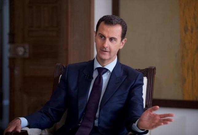 Syria's President Bashar al-Assad speaks during an interview with Australia's SBS News channel in this handout picture provided by SANA on July 1, 2016. SANA/Handout via REUTERS