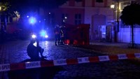 Emergency workers are seen following an explosion in Ansbach, near Nuremberg July 25, 2016, in this still image taken from video. Courtesy News5/via Reuters TV
