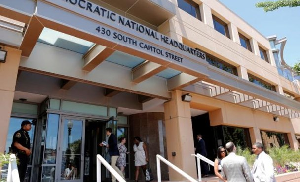 The headquarters of the Democratic National Committee is seen in Washington, U.S. June 14, 2016.
