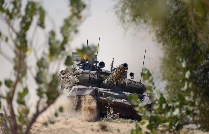 An Indian T-90 tank. Photo: AFP