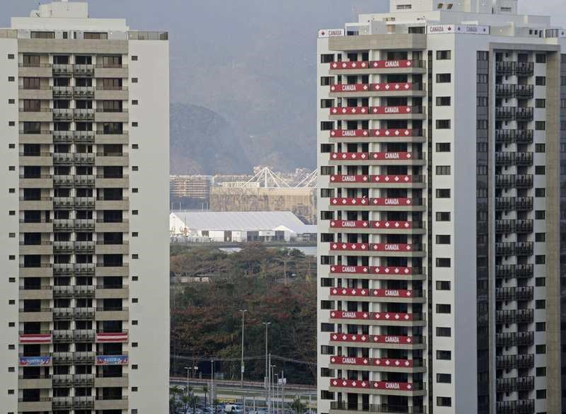A view of one of the blocks of apartments where Canadal's athletes competing in the Rio 2016 Olympic Games are supposed to stay in the Olympic Village in Rio de Janeiro, Brazil, July 23, 2016. Picture taken July 23, 2016.