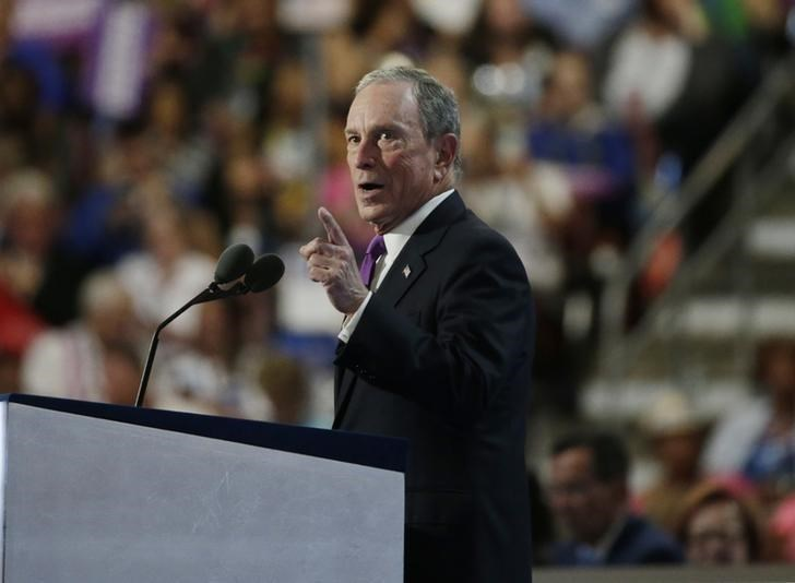 Former New York Mayor Michael Bloomberg speaks at the Democratic National Convention in Philadelphia, Pennsylvania, U.S. July 27, 2016.