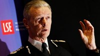 Commissioner of the Metropolitan Police Service Bernard Hogan-Howe speaks at the London School of Economics in London January 16, 2012.