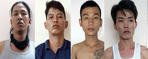 Four suspected thieves targeting foreigners in a photo provided by the police