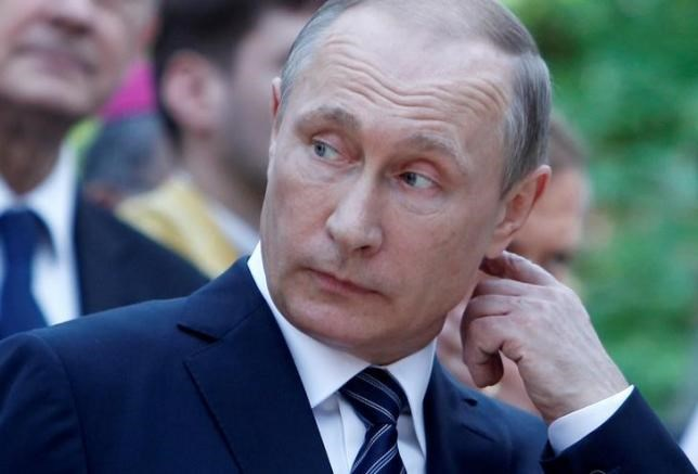 Russian President Vladimir Putin, shown here at the commemoration of a Russian chapel in Vrsic, Slovenia.