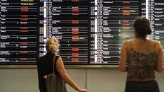 Hundreds of flights from Hong Kong have been affected