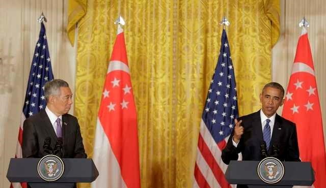 Obama Singapore Leader Push Pacific Trade Deal In State Visit