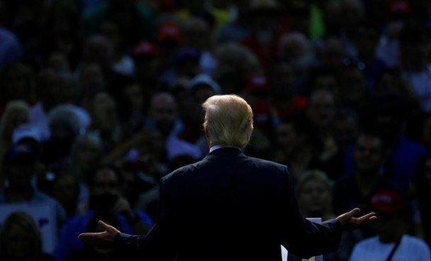 Republican U.S. Presidential nominee Donald Trump attends a campaign event at the Ocean Center in Daytona Beach, Florida August 3, 2016.