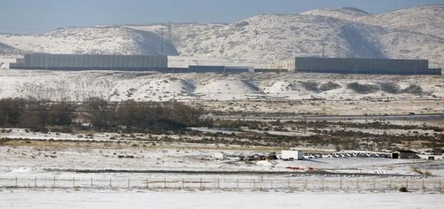 A National Security Agency data gathering facility in Bluffdale, about 25 miles (40 km) south of Salt Lake City, Utah, December 16, 2013.