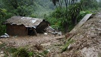 A view of the house where three members of a family died after a mudslide following heavy showers caused by the passing of Tropical Storm Earl in the town of Temazolapa, in Veracruz state, Mexico, August 6, 2016.