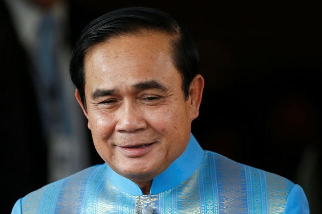 Thai Prime Minister Prayuth Chan-ocha arrives at a cabinet meeting at government house in Bangkok, Thailand August 9, 2016.