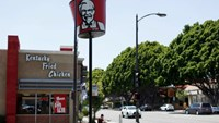 A KFC fast food restaurant, which is owned by Yum Brands Inc, is pictured ahead of their company results in Pasadena, California, U.S., July 11, 2016.