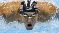Michael Phelps competes.