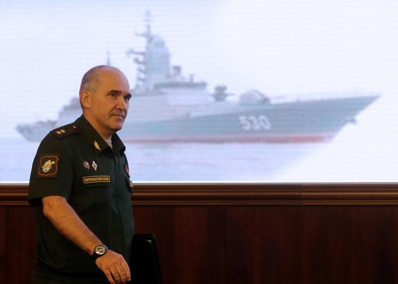 Sergei Rudskoy, head of Russian General Staff's main operations command, arrives for a news briefing on Syria, in Moscow, Russia, August 10, 2016.