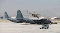 Afghan C-130 military aircrafts are parked at a military airfield in Kabul, Afghanistan July 27, 2016. Picture taken July 27, 2016.