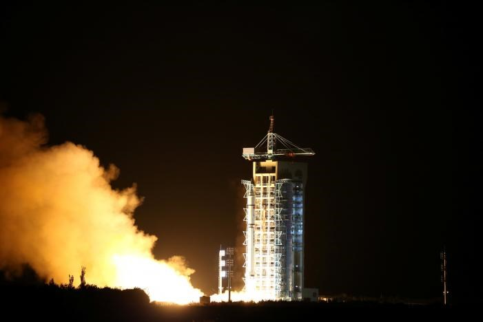 World's first quantum satellite is launched in Jiuquan, Gansu Province, China, August 16, 2016. China Daily/via REUTERS