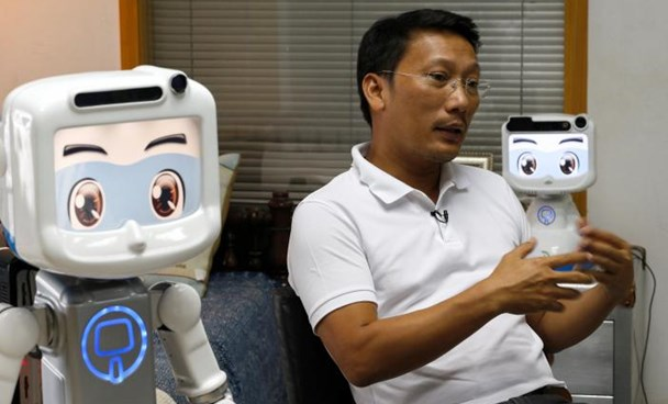 Chalermpon Punnotok, CEO of CT Asia Robotics speaks during an interview with Reuters in Bangkok, Thailand July 5, 2016.