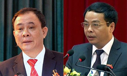 Pham Duy Cuong, Secretary of Yen Bai Province Party's committee (L), and Ngo Ngoc Tuan, Chairman of the province's People's Council, were shot dead this morning.