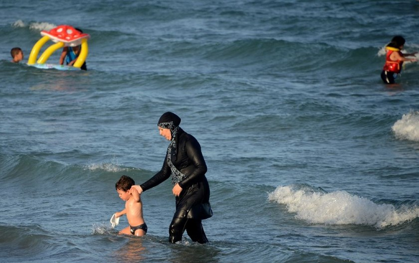The burkini is a full-body swimsuit which covers the body and hair