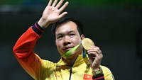 Hoang Xuan Vinh, a 41-year-old serving army colonel who first learned to shoot with AK47 rifles, made history in Rio when a near-perfect final shot in the men's 10-metre air pistol clinched him Olympic gold