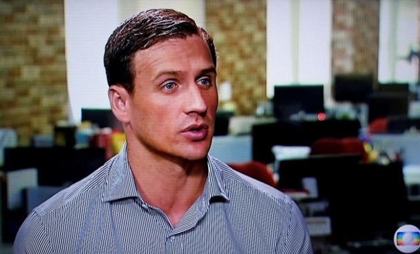 In this still image from video Olympic gold medallist swimmer Ryan Lochte of the U.S. gives an interview to Globo TV at their studios in New York City, August 20, 2016. Courtesy Globo TV via REUTERS