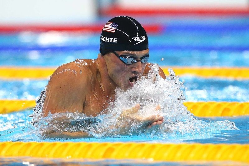 Ryan Lochte competes in the Men's 200m Individual Medley semifinal on Aug. 10, in Rio de Janeiro, Brazil. Photographer: Jean Catuffe/Getty Images