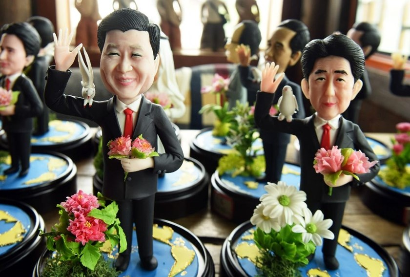 Dough figurines of G20 leaders made for the upcoming summit in Hangzhou, eastern China to be held from September 4 to 5