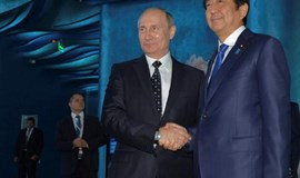 Russian, Japanese leaders express new resolve to settle island row