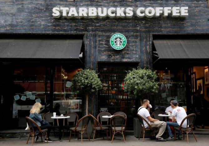 A Starbucks cafe is pictured in Paris, France, August 4, 2016.