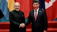 Chinese President Xi Jinping shakes hands with Indian Prime Minister Narendra Modi during the G20 Summit in Hangzhou, Zhejiang province, China September 4, 2016.
