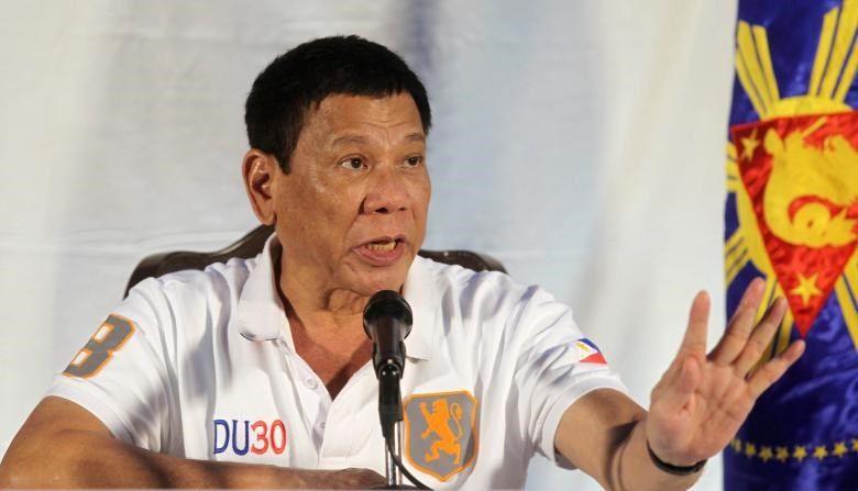Philippine President Rodrigo Duterte speaks during a news conference in Davao city, southern Philippines August 21, 2016.