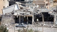 A destroyed building is seen following a battle between Libyan forces allied with the U.N.-backed government and Islamic State militants in neighbourhood Number One in central Sirte, Libya September 7, 2016.